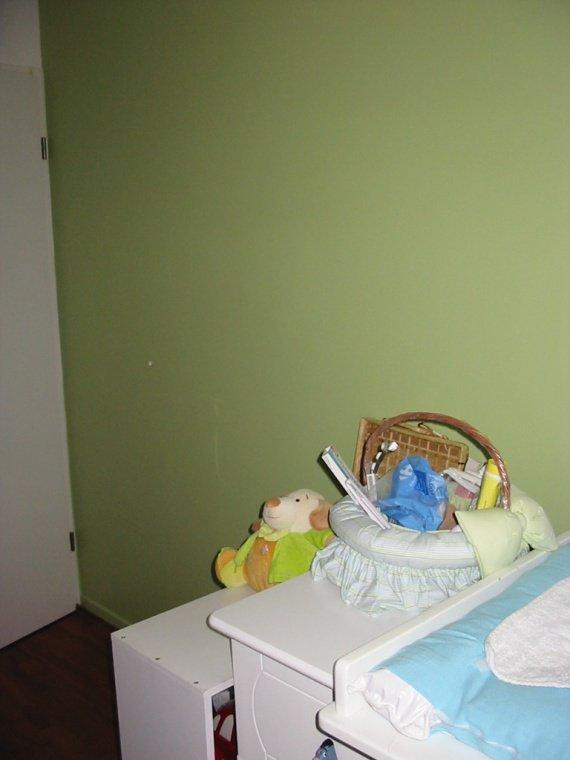 Mur vert anis d 39 eliott chambres enfants abrami - Mur vert anis ...