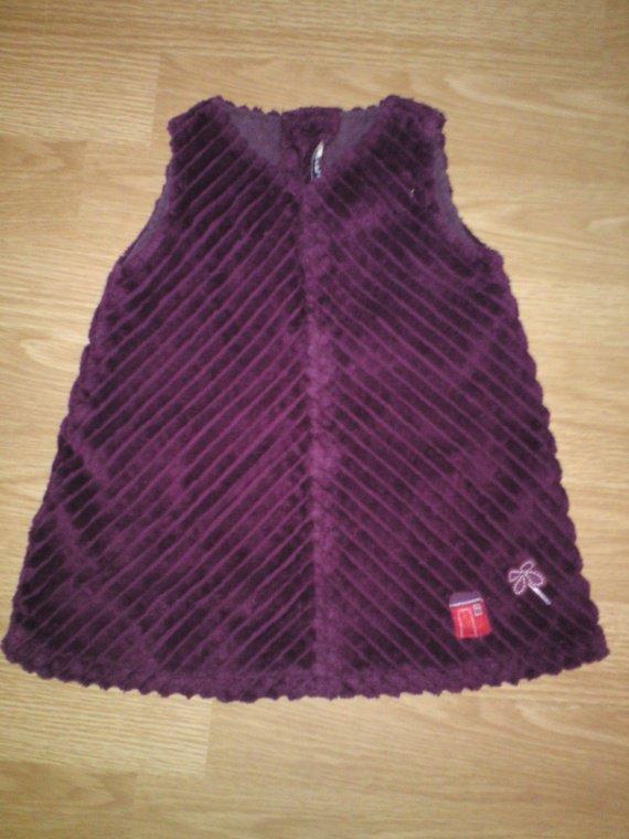 9 mois, robe alphabet en velour, très jolie, TBE, 4 euros