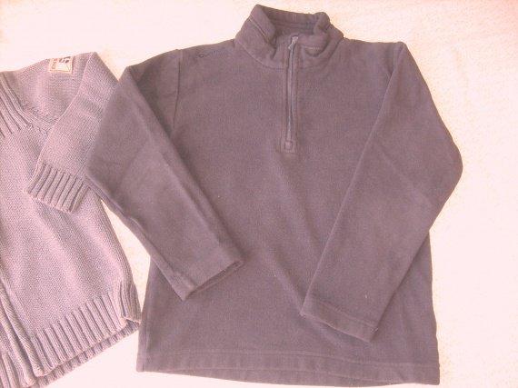 pull polaire  Quescha gris , 6 ans , tb. etat., 1€60