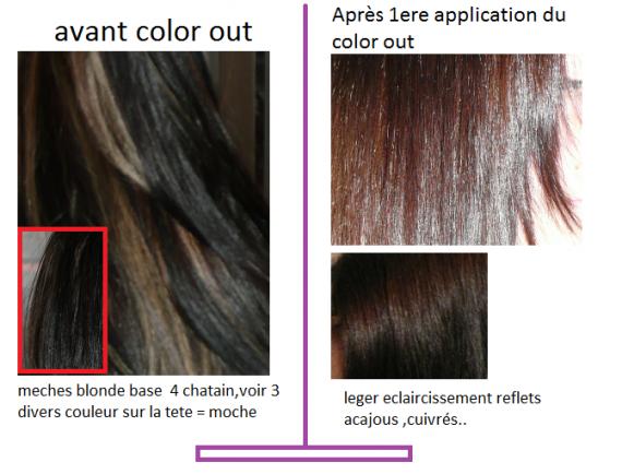 1er color out - Color Out Avant Apres