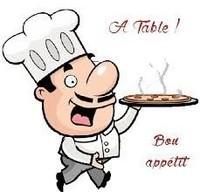 A table - cuisinier