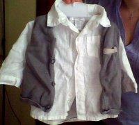 chemisette + gilet okaidi 4€