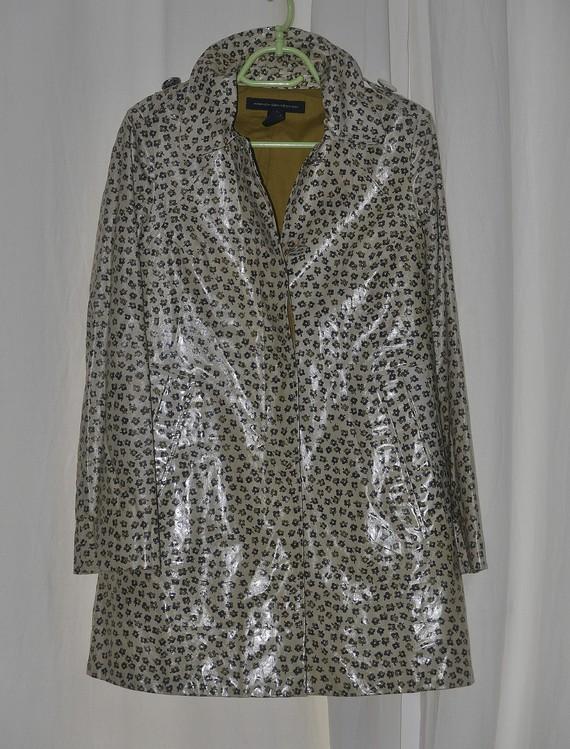 Manteau vinyl à motifs