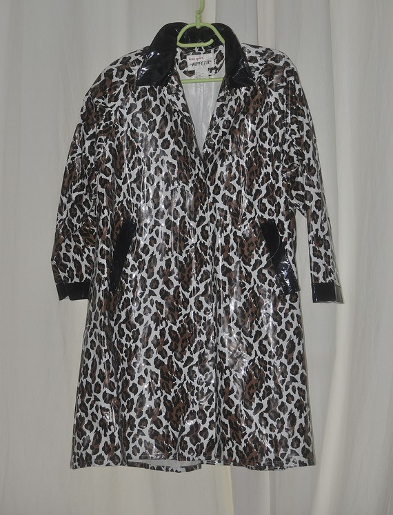 Manteau vinyl chiné noir et marron
