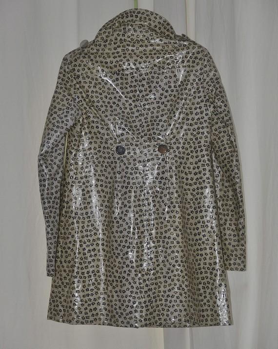 Manteau vinyl à motifs de dos