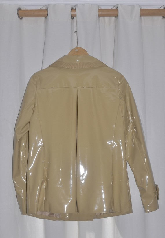 jacket vinyl de dos avec pli creux