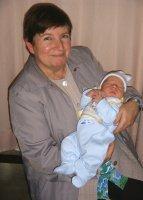 Photo prise à la Maternité avec mon neveu Xavier