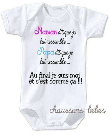 Body bébé personnalisé - chaussons bebes - Doctissimo fbd7e14e214