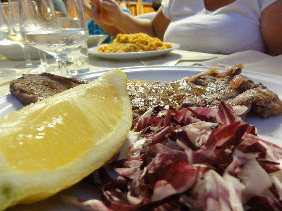 Salade rouge + citron
