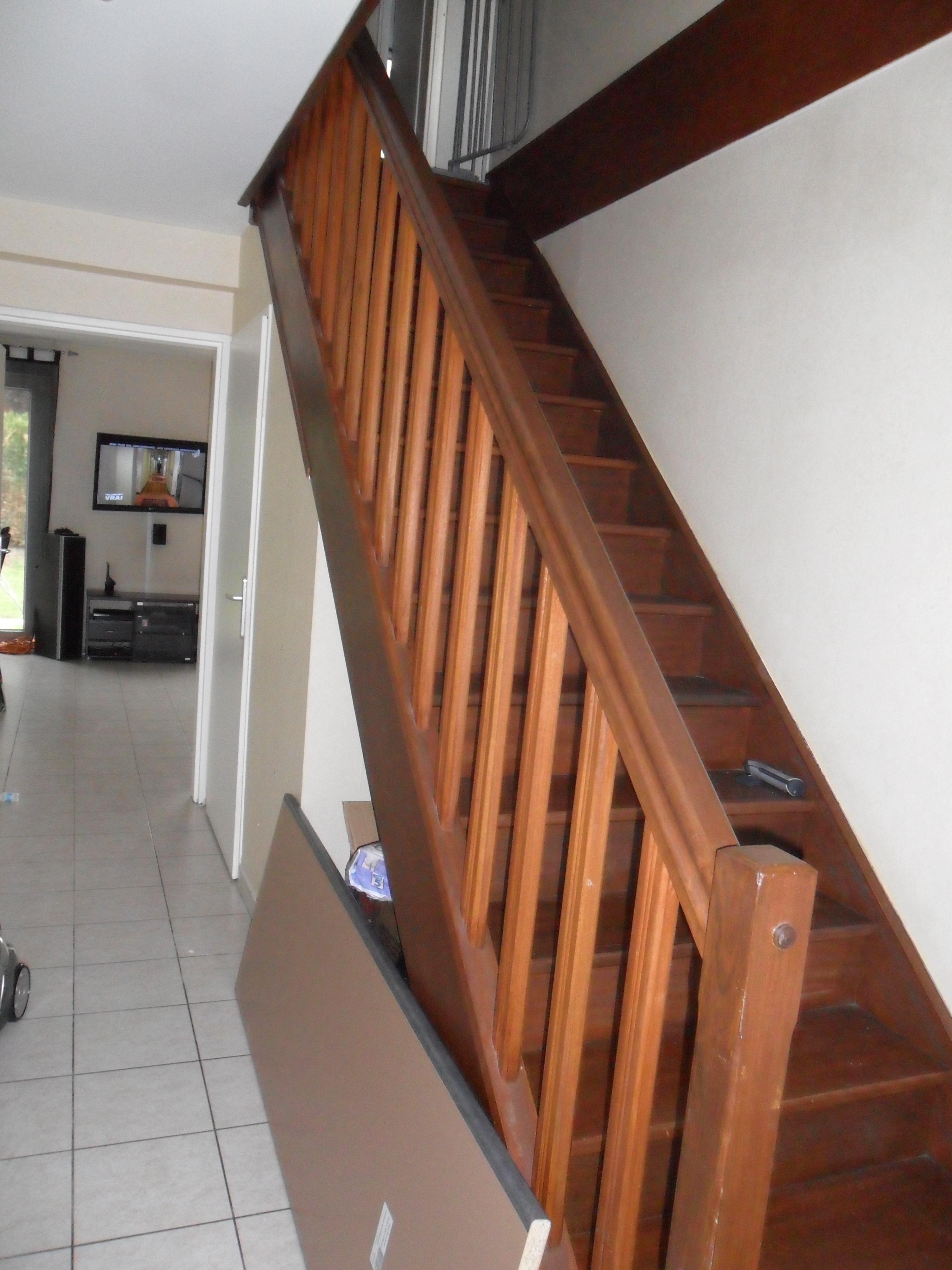 entr e et mont e d 39 escalier notre nouveau chez nous. Black Bedroom Furniture Sets. Home Design Ideas