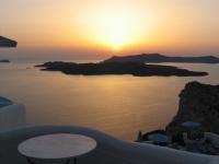 Coucher Soleil à Santorin