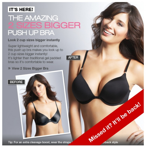 M&S 2 sizes bigger bras