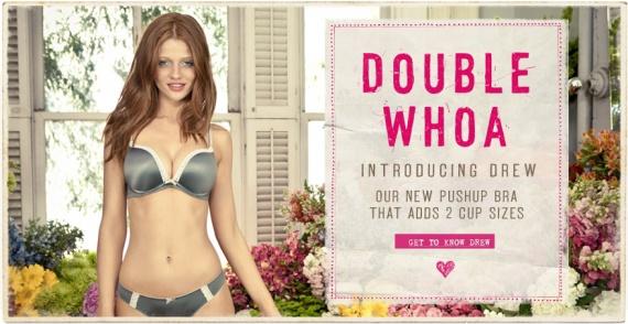 Aerie Drew Double Whoa Push-Up bra