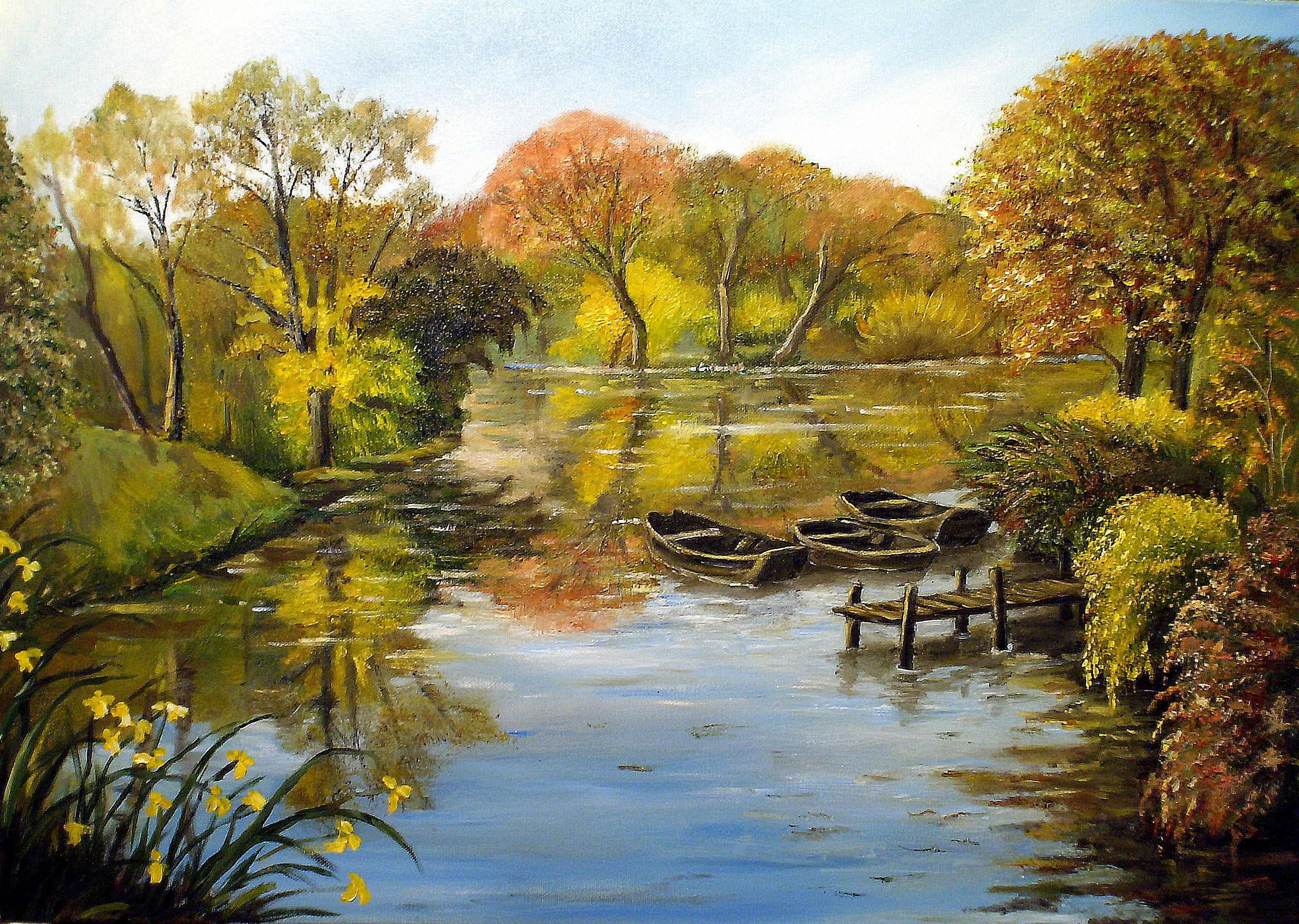 Emejing tableaux paysages campagne gallery joshkrajcik for Paysage peinture