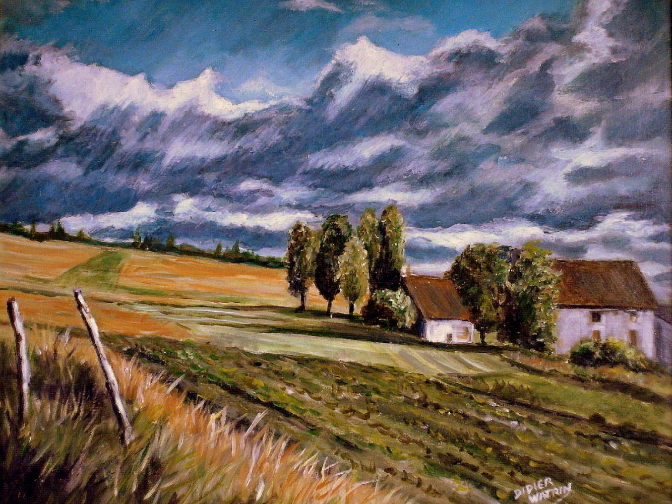 Maisons a la campagne mes peintures speederpeintre photos club doctissimo for Peintures maison