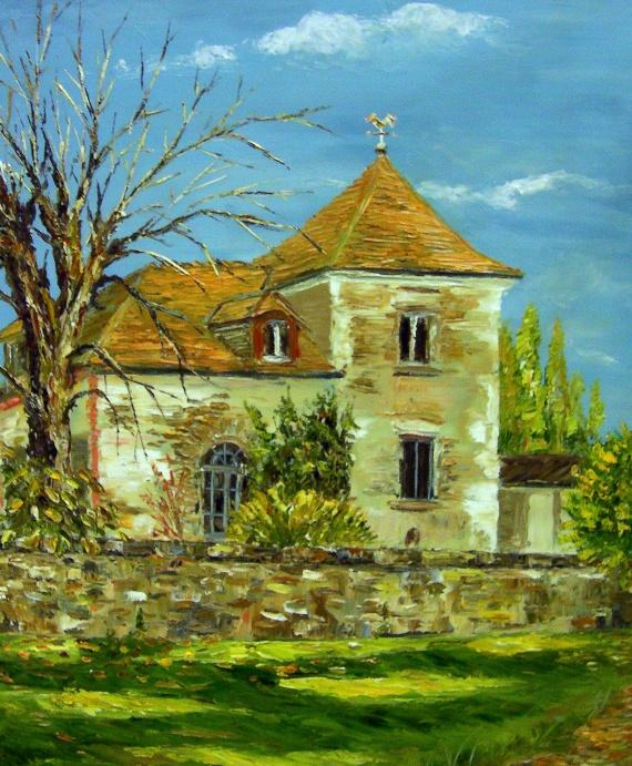 Villiers sur orge dans le parc de la maison rouge mes for Peindre un tableau