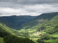 vallée de la Maronne vue de Salers
