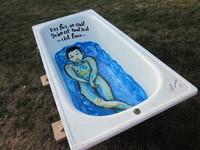 baignoire indiscrète