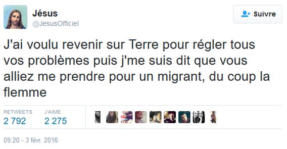 Tweet_Jésus_Migrant