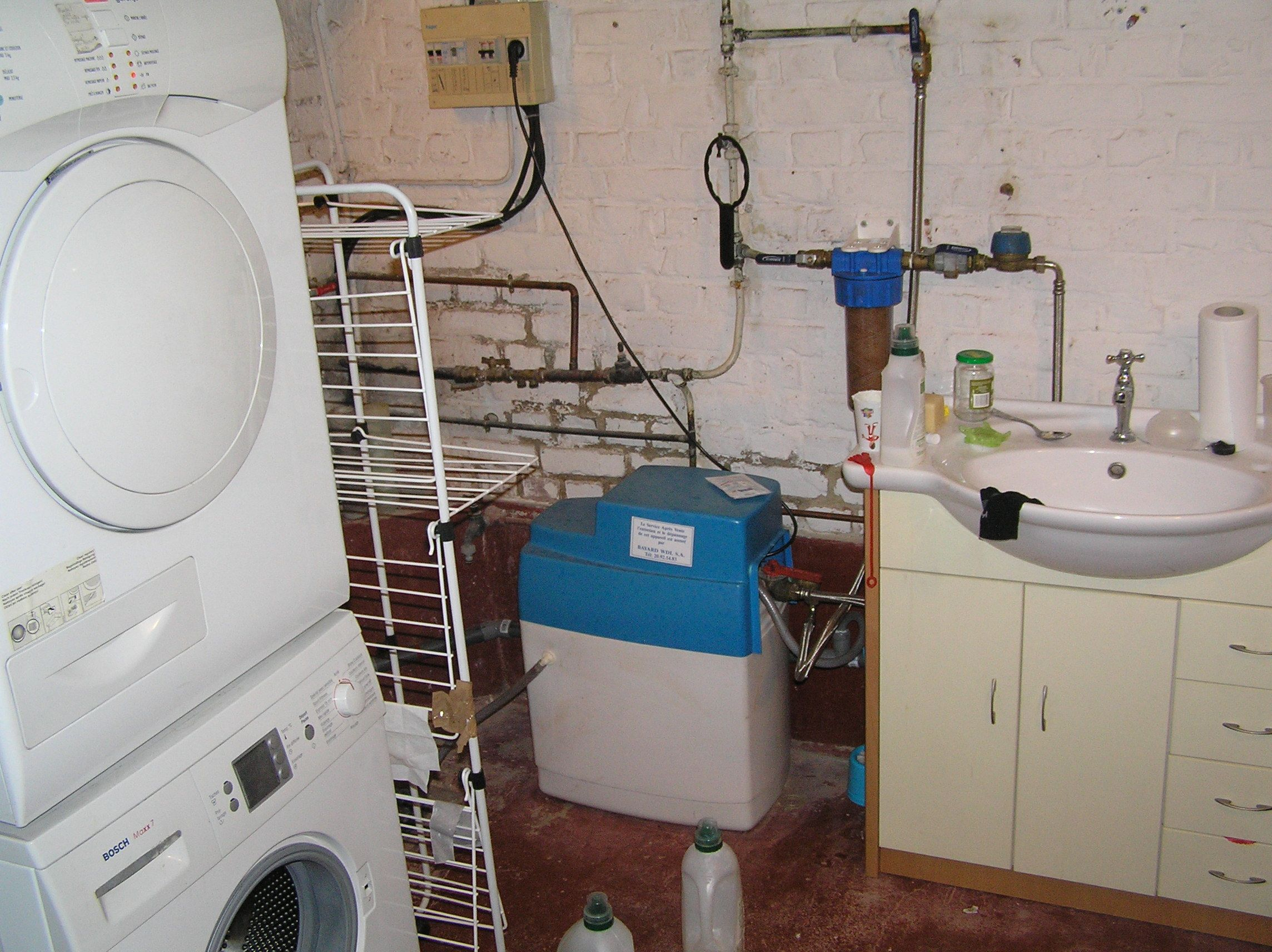 Sous sol espace buanderie maison en vente quartier nouveau roubaix sanbai photos - Sol buanderie ...