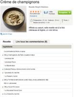 Crème de champignons 1