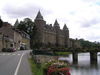 Château de Josselin dans le Morbihan