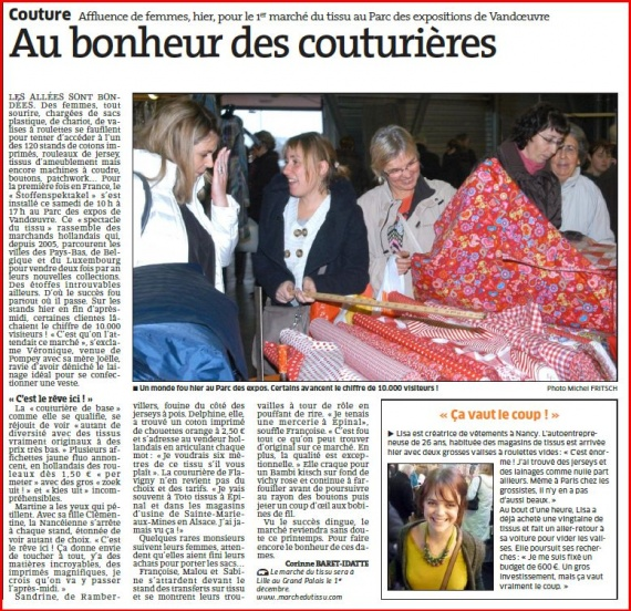marche tissu article ER 25 nov 2012