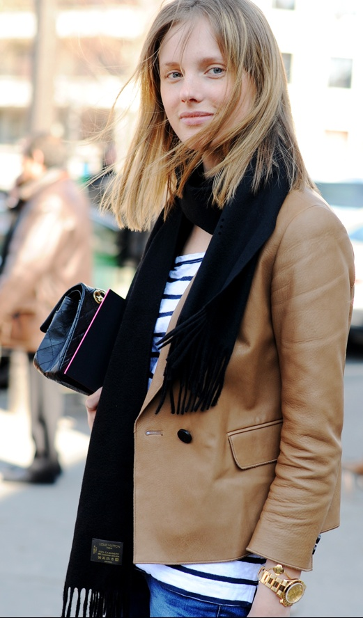 camel leather jacket mariniere chanel bag