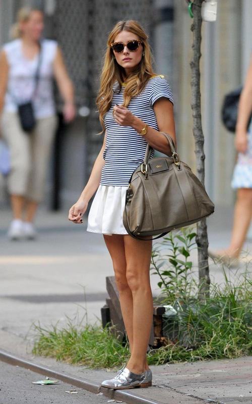 white skirt tutu brogue bag mariniere