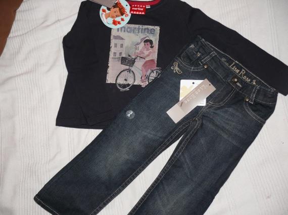 Jean et tee shirt Lisa Rose, 3 ans