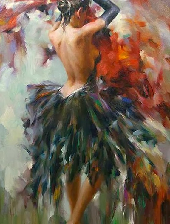 Stephen Pan-ImpressioniArtistiche-1-Girl in a Feather Dress