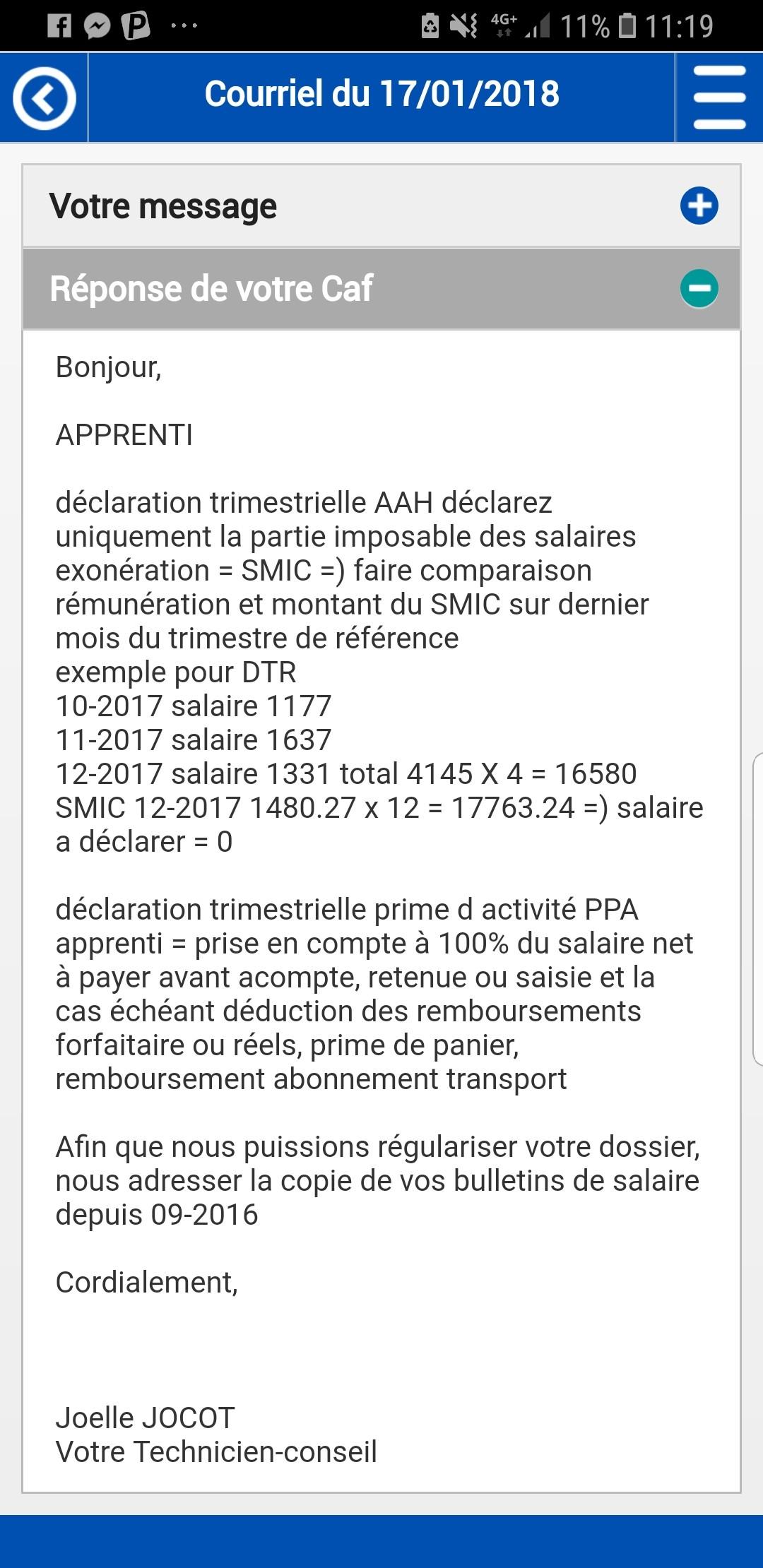 Caf Aah En Apprentissage Impots Forum Vie Pratique