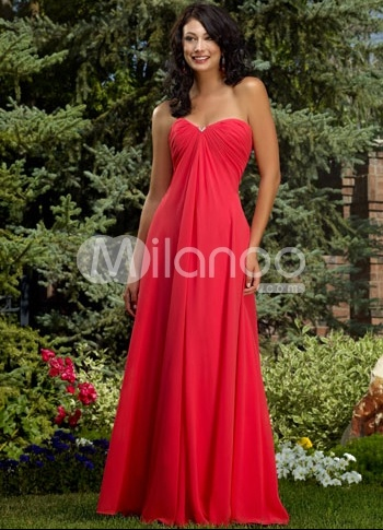 Red-Empire-Waist-Strapless-Chiffon-Evening-Gown-27810-1