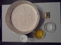 Ingrédients pour la pâte à pizza