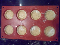 Fonds de tartelettes en pâte sablée crus