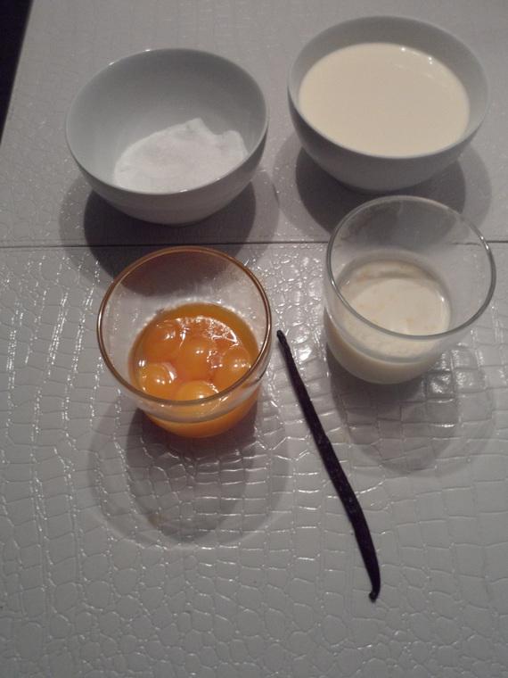 Ingrédients mini crème brûlée