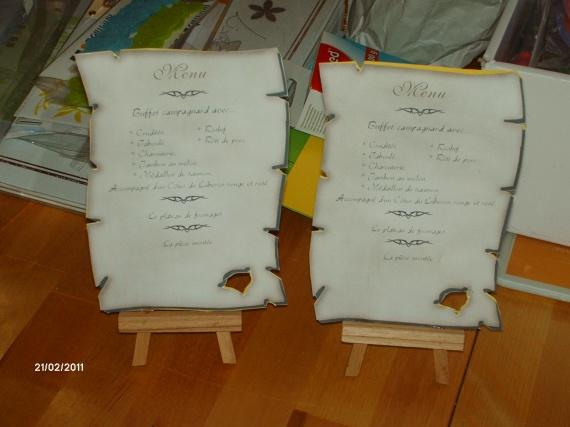 parchemin menu