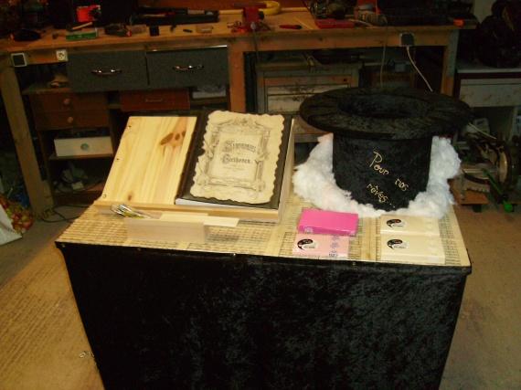 urne finie + livre d'or, cartes