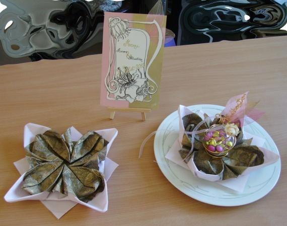 pliage serviette/balottin/assiette/menu