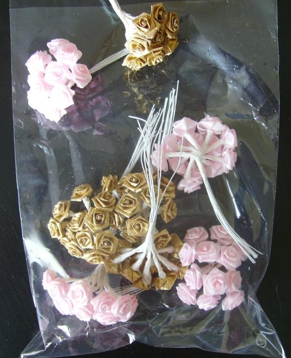 roses Or et rose boutonnières