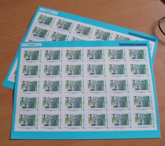les plaquettes de timbres