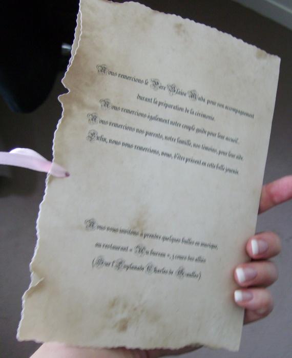 grand essai texte arrire - Exemple Livret De Messe Mariage