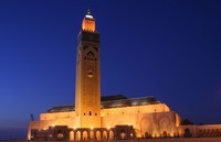 Hassan-II-Mosque-in-Casablanca-Morocco-night
