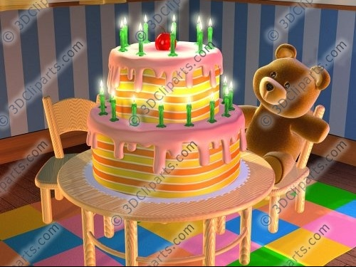 CELEBRATION_VOEUX_ANNIVERSAIRE_bithday_cake_teddy_bear