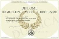 Diplome du mec le plus moche
