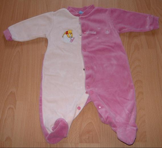 pyjama rose winnie et porcinet 3 mois pyjamas taille 1. Black Bedroom Furniture Sets. Home Design Ideas