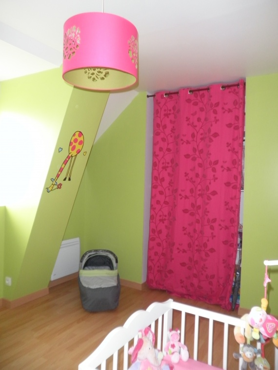 Chambre bebe fille vert rose - Chambre fille orange et vert ...