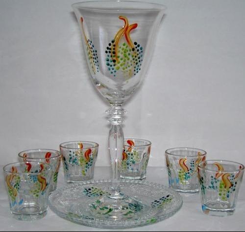 Verre Kidouch Le Raisin et 6 petits verres 43E ..