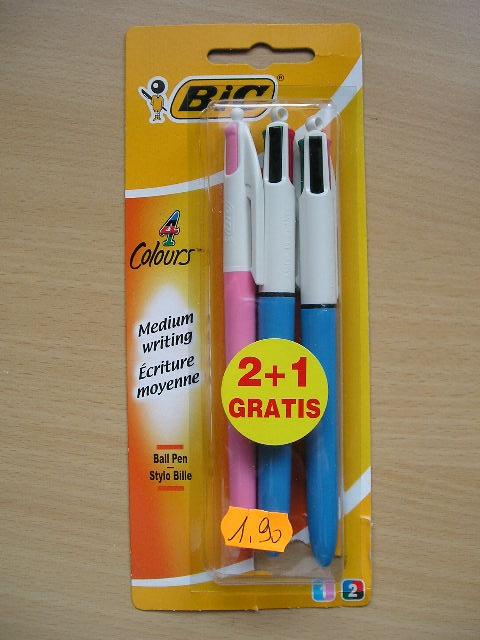 BIC - 2+1 stylos 4 couleurs