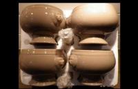 4 bols marrons tête de lion NEUFS